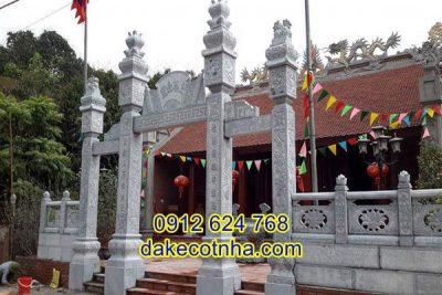 Mẫu cổng chùa bằng đá nguyên khối cao cấp giá tốt, mẫu cổng chùa bằng đá