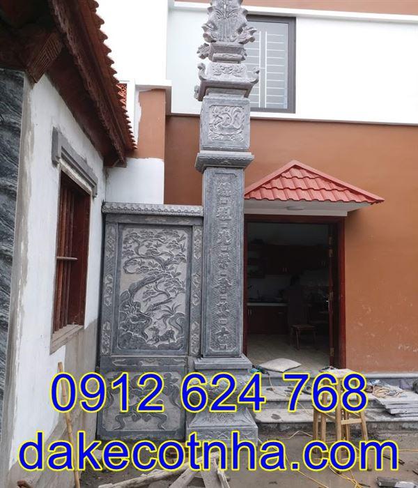 Mẫu cột đồng trụ đẹp nhà thờ họ bằng đá , cột đồng trụ đẹp