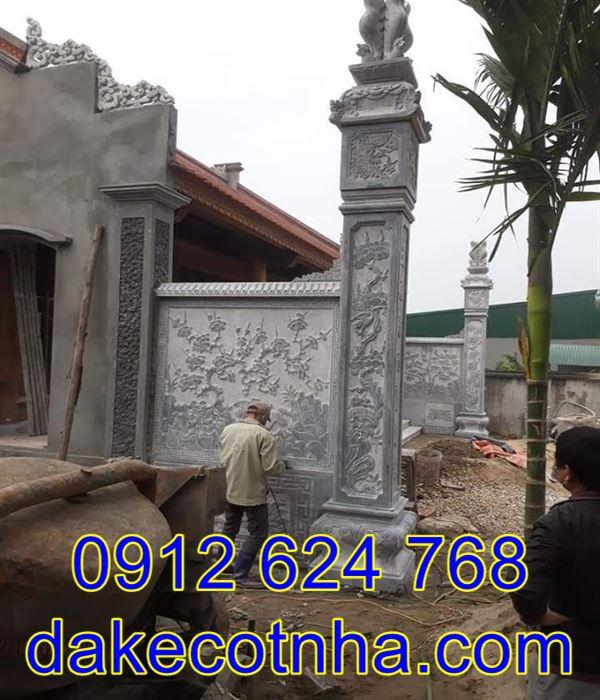 Mẫu cột đồng trụ nhà thờ đẹp bằng đá nguyên khối, cột đồng trụ