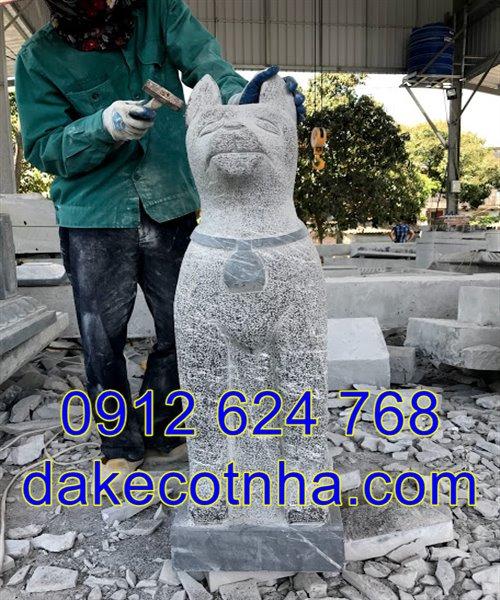 Mẫu tượng chó đá phong thủy đẹp giá rẻ nhất tại Ninh Bình 01