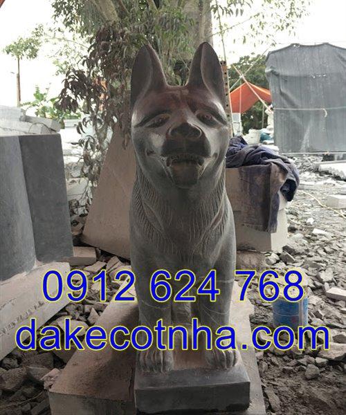 tượng chó đá phong thủy đẹp giá rẻ nhất tại Ninh Bình 01