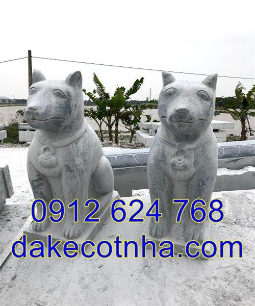 tượng chó đá phong thủy đẹp giá rẻ nhất tại Ninh Bình
