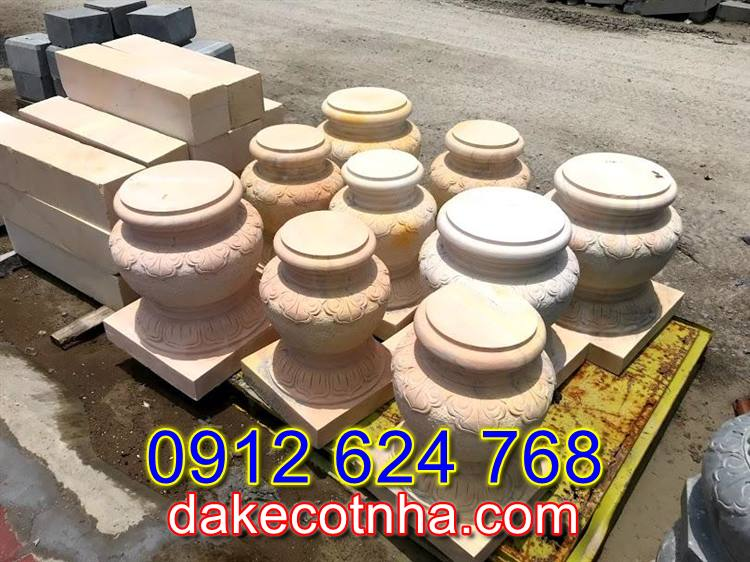 Bán mẫu chân cột đá đẹp tại Yên Bái,đá tảng kê cột gỗ đẹp tại Yên Bái
