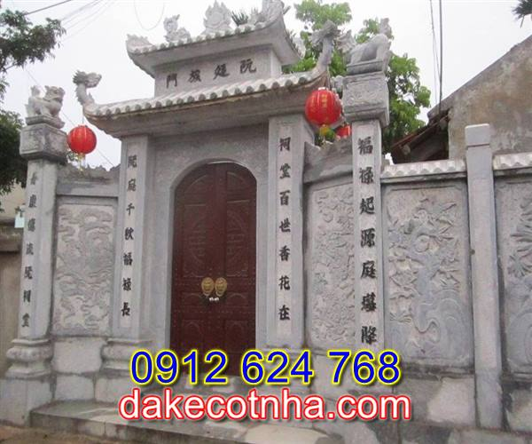Làm cổng đá nhà thờ họ tại Bắc Ninh,cổng tam quan bằng đá tại Bắc Ninh
