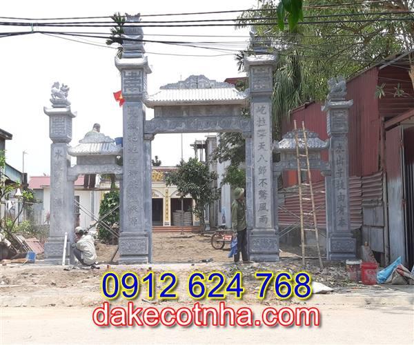 Làm cổng đá nhà thờ họ tại Hà Nội,mẫu cổng đá tại Hà Nội