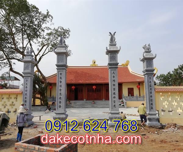 Làm cổng đá nhà thờ họ tại Hưng Yên,cổng tam quan bằng đá tại Hưng Yên