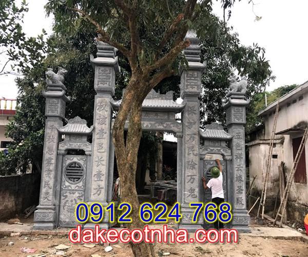 Làm cổng đá nhà thờ họ tại Vĩnh Phúc, mẫu cổng đá tại Vĩnh Phúc