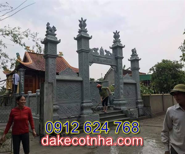 Làm cổng chùa bằng đá tại Vĩnh Phúc, mẫu cổng chùa bằng đá đẹp