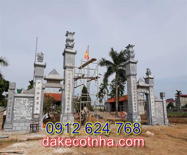Làm cổng nhà thờ bằng đá tại Hà Nội,cổng đá nhà thờ họ tại Hà Nội