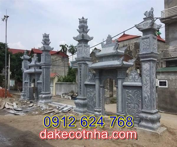 Làm cổng nhà thờ bằng đá tại Hưng Yên, cổng làng bằng đá tại Hưng Yên