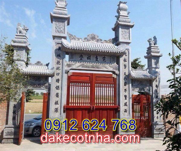 Làm cổng nhà thờ họ đẹp tại Hà Nội, cổng đá tam quan tại Hà Nội