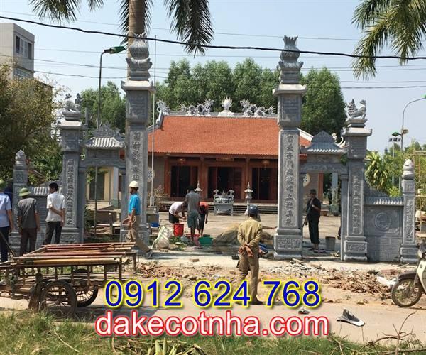 Làm cổng nhà thờ họ đẹp tại Vĩnh Phúc, cổng nhà thờ họ đẹp bằng đá tại Vĩnh Phúc