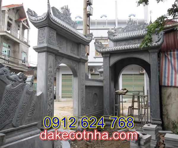Làm mẫu cổng đá nhà thờ họ tại Bắc Ninh,cổng đền chùa bằng đá tại Bắc Ninh