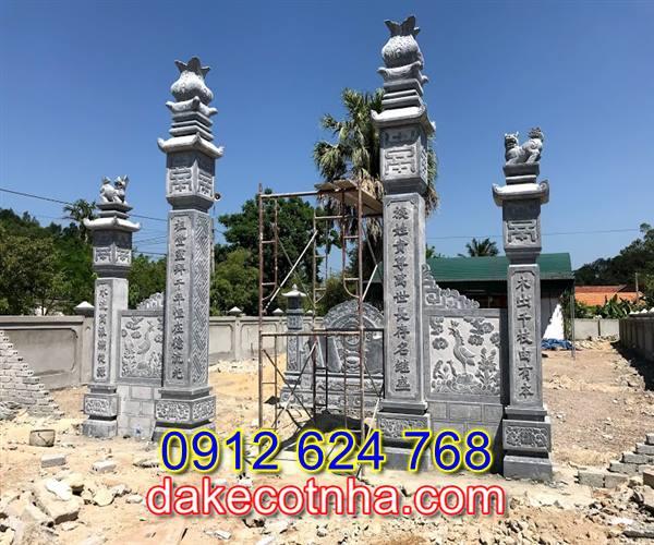 Làm mẫu cổng đá nhà thờ họ tại Hà Nội,cổng tam quan đá tại Hà Nội