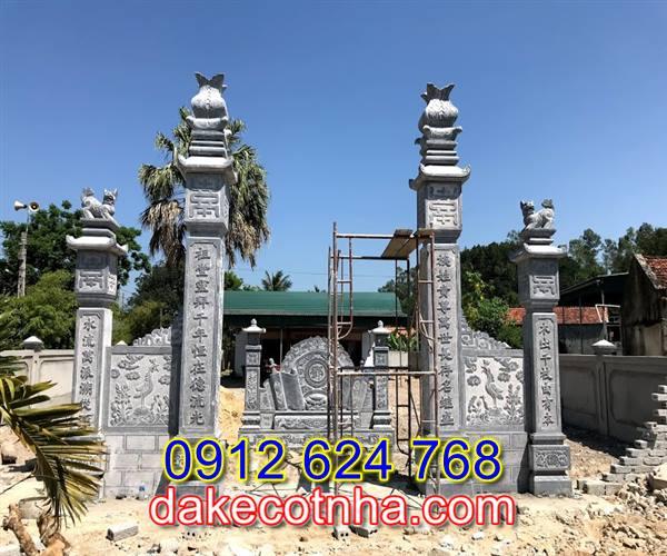 Làm mẫu cổng đá nhà thờ họ tại Hưng Yên, mẫu cổng đá tại Hưng Yên