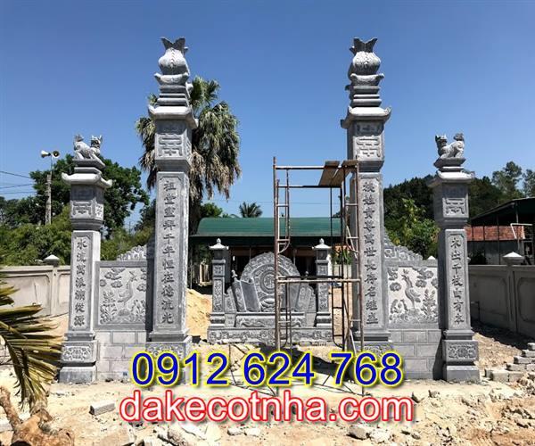 Làm mẫu cổng đá nhà thờ họ tại Vĩnh Phúc, mẫu cổng chùa tại vĩnh Phúc