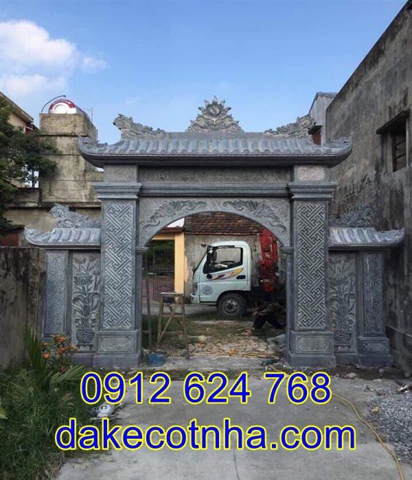 Làm mẫu cổng nhà thờ tộc đẹp tại Hưng Yên, cổng đá nhà thờ tộc tại Hưng Yên