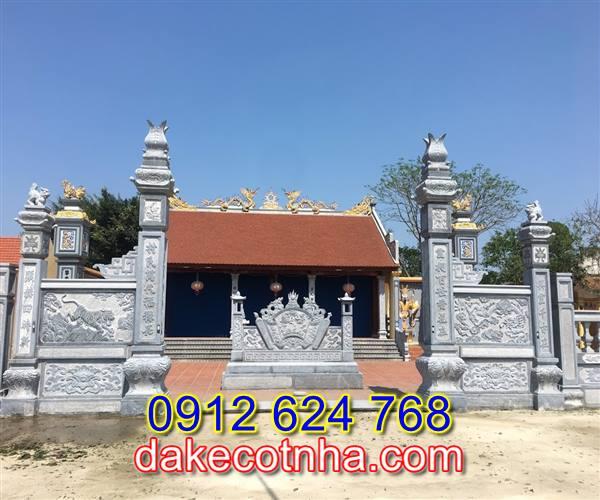 Làm mẫu cổng nhà thờ tộc đẹp tại Vĩnh Phúc, cổng đá tại Vĩnh Phúc