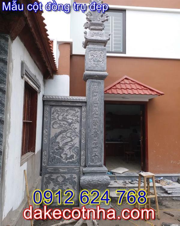 Mẫu cột đồng trụ nhà thờ họ đẹp bằng đá,mẫu cột đồng trụ